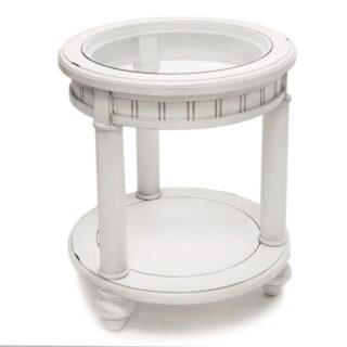 Monaco-round-white-end-table-for-coastal-decor-600x600